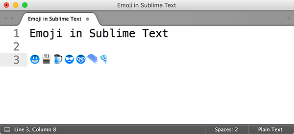 Эмодзи в Sublime Text